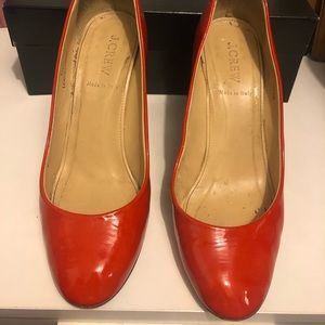 Red Round-toed Heels